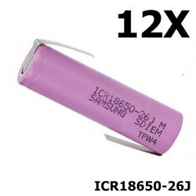 Samsung - 18650 Samsung ICR18650-26J 5.2A - Size 18650 - NK044-CB www.NedRo.us