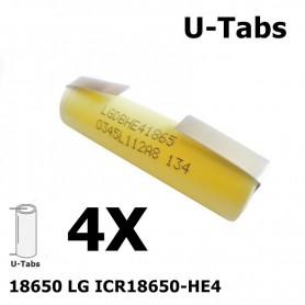 LG - LG 18650 LG ICR18650-HE4 20A - 18650 formaat - NK062-4X www.NedRo.nl