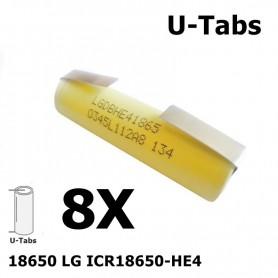 LG - LG 18650 LG ICR18650-HE4 20A - Size 18650 - NK062-8X www.NedRo.us