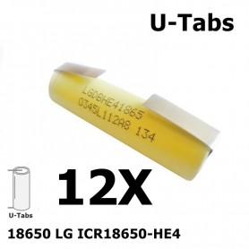 LG - LG 18650 LG ICR18650-HE4 20A - Size 18650 - NK062-12X www.NedRo.us