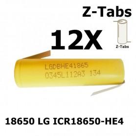 LG - LG 18650 LG ICR18650-HE4 20A - Size 18650 - NK063-12X www.NedRo.us