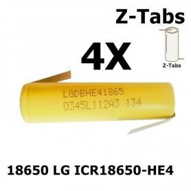 LG - LG 18650 LG ICR18650-HE4 20A - Size 18650 - NK063-4X www.NedRo.us