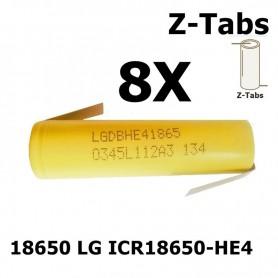 LG - LG 18650 LG ICR18650-HE4 20A - Size 18650 - NK063-8X www.NedRo.us