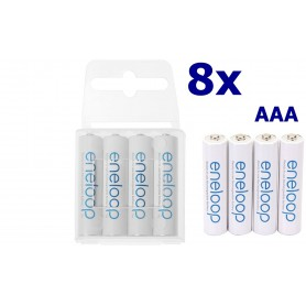 Eneloop - AAA R3 Panasonic Eneloop Oplaadbare Batterijen - AAA formaat - ON1191-8x www.NedRo.nl