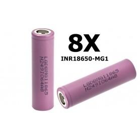 LG - 18650 LG INR18650-MG1 10A - 18650 formaat - NK047-8X www.NedRo.nl