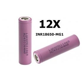 LG - 18650 LG INR18650-MG1 10A - 18650 formaat - NK047-12X www.NedRo.nl