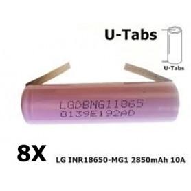LG - 18650 LG INR18650-MG1 10A - Size 18650 - NK064-8X www.NedRo.us