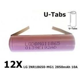 LG - 18650 LG INR18650-MG1 10A 2850mAh - Size 18650 - NK047-CB www.NedRo.us