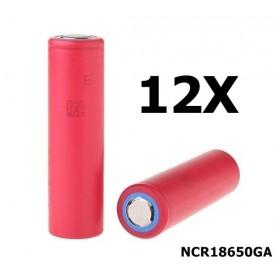 Sanyo - Sanyo NCR18650GA 18650 Li-ion - Size 18650 - NK051-12X www.NedRo.us