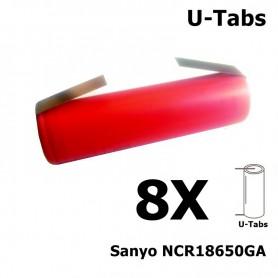 Sanyo - Sanyo NCR18650GA 18650 Li-ion - Size 18650 - NK066-8X www.NedRo.us