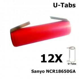 Sanyo - Sanyo NCR18650GA 18650 Li-ion - Size 18650 - NK066-12X www.NedRo.us