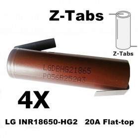 LG - LG INR18650-HG2 20A Unprotected - Size 18650 - NK091-4X www.NedRo.us