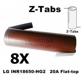 LG - LG INR18650-HG2 20A Unprotected - Size 18650 - NK091-8X www.NedRo.us