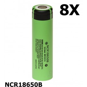 Panasonic - Panasonic 3350mAh NCR18650B 3.7V 6.7A 18650 batterij - 18650 formaat - NK090-CB www.NedRo.nl