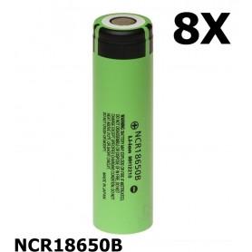 Panasonic - Panasonic 3350mAh NCR18650B 3.7V 6.7A 18650 batterij - 18650 formaat - NK090-8X www.NedRo.nl
