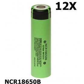 Panasonic - Panasonic 3350mAh NCR18650B 3.7V 6.7A battery - Size 18650 - NK090-C www.NedRo.us