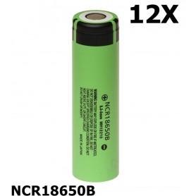 Panasonic - Panasonic 3350mAh NCR18650B 3.7V 6.7A 18650 batterij - 18650 formaat - NK090-12x www.NedRo.nl