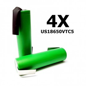 Sony - Sony Konion US18650VTC5 2600mAh 30A 18650 - Size 18650 - NK114-4X www.NedRo.us
