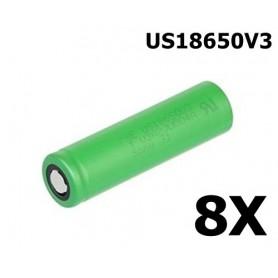 Sony - Sony Konion US18650V3 2250mAh 18650 3.7V 10A Oplaadbaar - 18650 formaat - NK105-8x www.NedRo.nl