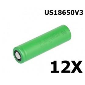 Sony - Sony Konion US18650V3 2250mAh 18650 3.7V 10A Rechargeable - Size 18650 - NK105-12x www.NedRo.us