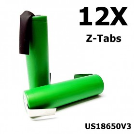 Sony - Sony Konion US18650V3 2250mAh 18650 3.7V 10A Rechargeable - Size 18650 - NK117-12x www.NedRo.us