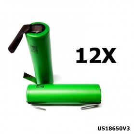 Sony - Sony Konion US18650V3 2250mAh 18650 3.7V 10A Rechargeable - Size 18650 - NK116-12x www.NedRo.us