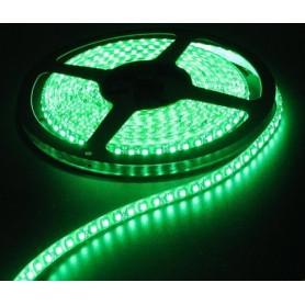 NedRo - Groen 12V IP65 SMD5630 Led Strip 60LED per meter - LED Strips - AL153-4M www.NedRo.nl