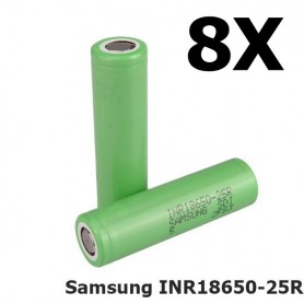 Samsung - Samsung INR18650-25R 2500mAh 20A - Size 18650 - NK056-CB