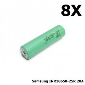 Samsung - Samsung INR18650-25R 20A - 18650 formaat - NK121-8X www.NedRo.nl