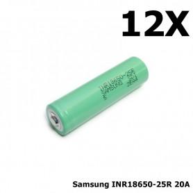 Samsung - Samsung INR18650-25R 20A - Size 18650 - NK121-12X www.NedRo.us