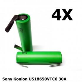 Sony - Sony Konion US18650VTC6 30A 3120mAh - Size 18650 - NK158-4x www.NedRo.us
