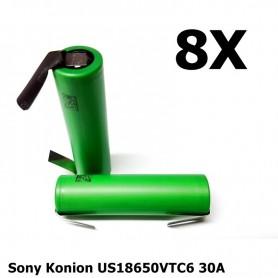 Sony - Sony Konion US18650VTC6 30A 3120mAh - Size 18650 - NK158-8x www.NedRo.us