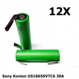 Sony - Sony Konion US18650VTC6 30A 3120mAh - Size 18650 - NK158-12x www.NedRo.us