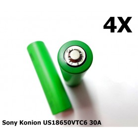 Sony - Sony Konion US18650VTC6 30A 3120mAh - Size 18650 - NK170-4x www.NedRo.us
