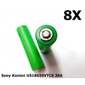 Sony - Sony Konion US18650VTC6 30A 3120mAh - Size 18650 - NK170-8x www.NedRo.us