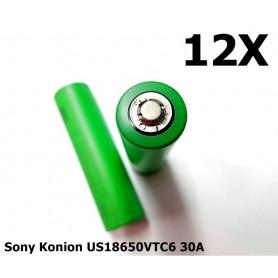 Sony - Sony Konion US18650VTC6 30A 3120mAh - Size 18650 - NK170-12x www.NedRo.us