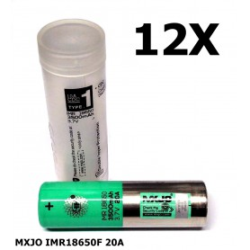 MXJO - MXJO IMR18650F 20A - 18650 formaat - NK162-12X www.NedRo.nl