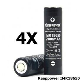 KeepPower - Keeppower IMR18650 18650 20A 3.7V 2900mAh oplaadbare batterij NH1829 - 18650 formaat - NK174-4x www.NedRo.nl