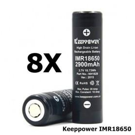 KeepPower - Keeppower IMR18650 18650 20A 3.7V 2900mAh oplaadbare batterij NH1829 - 18650 formaat - NK174-8x www.NedRo.nl