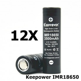 KeepPower - Keepower IMR18650 Rechargeable Battery NH1835 - Size 18650 - NK175-12X www.NedRo.us