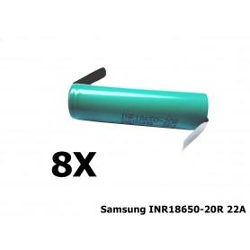 Samsung - Samsung INR18650-20R 22A 2000mAh - 18650 formaat - NK189-8X www.NedRo.nl