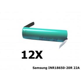 Samsung - Samsung INR18650-20R 22A 2000mAh - Size 18650 - NK189-12X www.NedRo.us
