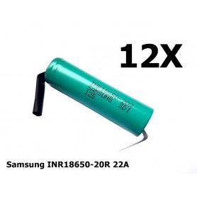 Samsung - Samsung INR18650-20R 22A 2000mAh - Size 18650 - NK190-12X www.NedRo.us