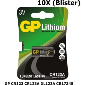 GP - GP CR123 CR123A DL123A CR17345 lithium battery - Other formats - BS102-C www.NedRo.us