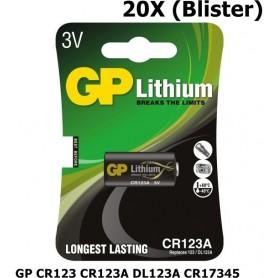 GP - GP CR123 CR123A DL123A CR17345 Lithium batterij - Andere formaten - BL114-20X www.NedRo.nl