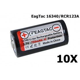 EagTac - EagTac 16340/RCR123A 750mAh 1.5A Rechargeable - Andere formaten - NK071-10X www.NedRo.nl