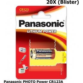 Panasonic - Panasonic PHOTO Power CR123A blister lithium battery - Other formats - NK083-20X www.NedRo.us