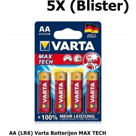 OTB - VARTA BATTERY MAX TECH AA (LR6) - 4 in BLISTER - Size AA - ON1332-5X www.NedRo.us