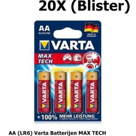 OTB - AA (LR6) Varta Batterijen MAX TECH - AA formaat - ON1332-20X www.NedRo.nl