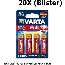 OTB - VARTA BATTERY MAX TECH AA (LR6) - 4 in BLISTER - Size AA - ON1332-20X www.NedRo.us